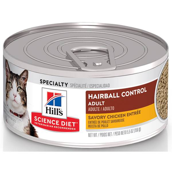 Minced Hairball Control Chicken Entree Adult Canned Cat Food
