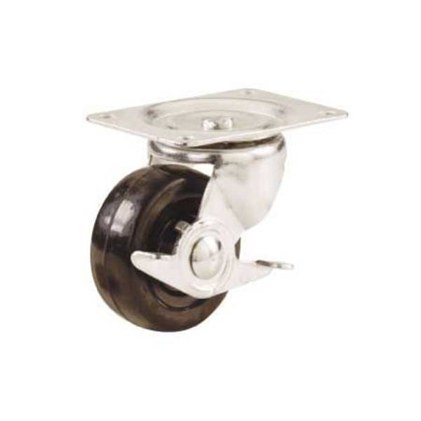 Rubber Swivel Caster with Side Brake