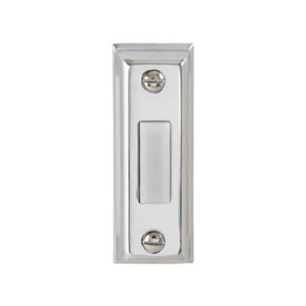 Silver Metal Lighted Door Bell Button