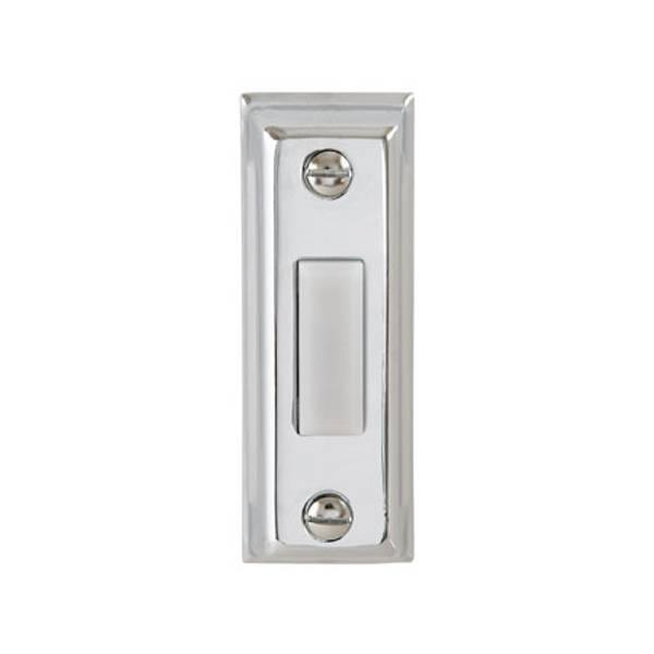 Silver Metal Lighted Door Bell Button