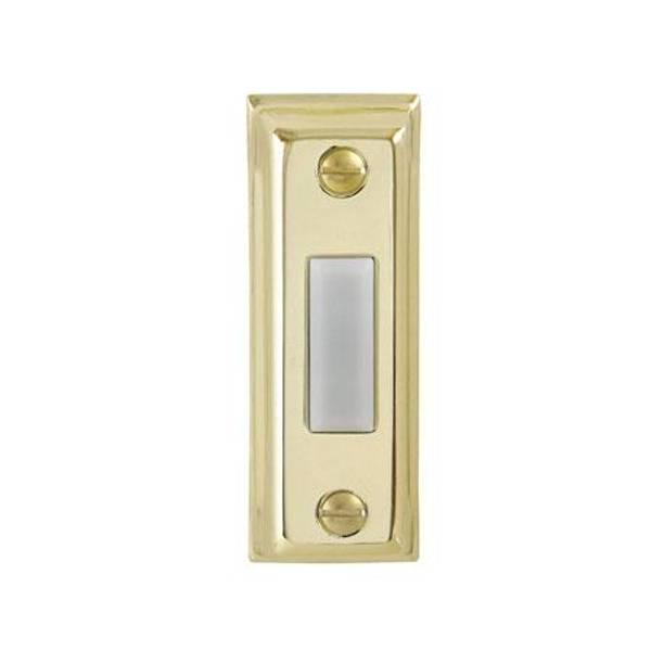 Gold Metal Lighted Door Bell Button