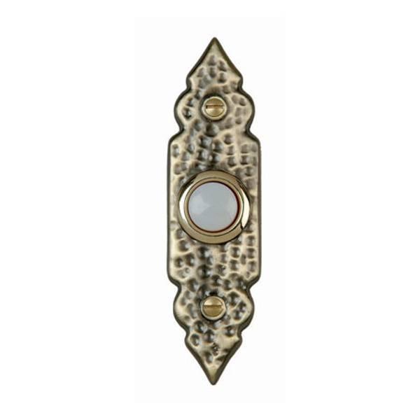 Wrought Iron Lighted Door Bell Button