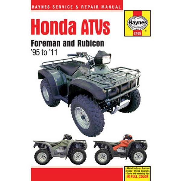 Honda Foreman & Rubicon ATVs, '95-'11 Manual
