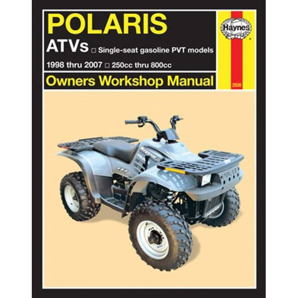 Polaris ATVs 250-800cc, '98-'07