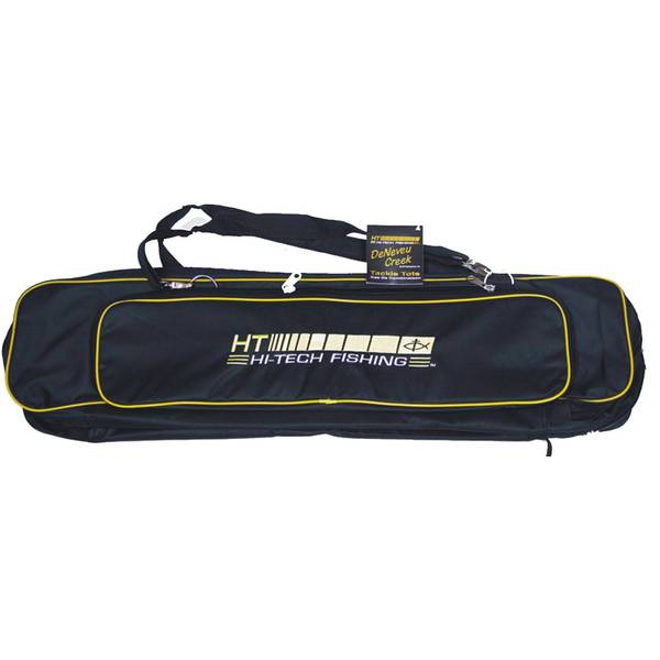 Hi tech fishing deneveu creek tackle tote for Fishing rod tote