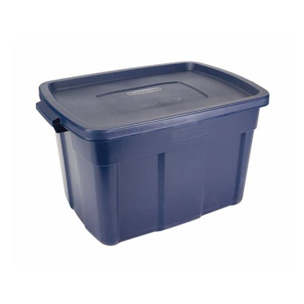 Rubbermaid Dark Indigo Metallic Roughneck Storage Box