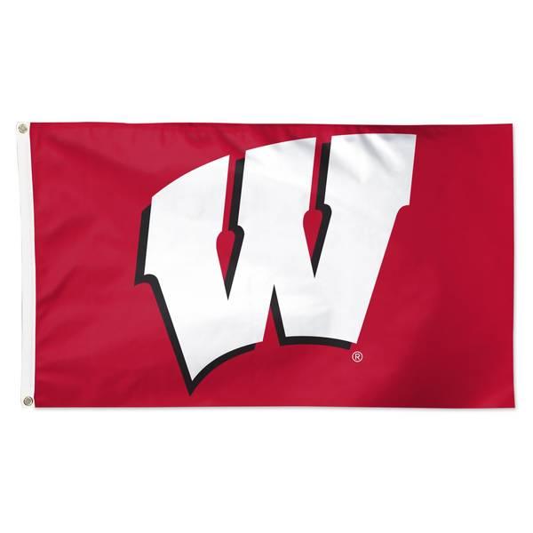 University of Wisconsin Single Sided Flag