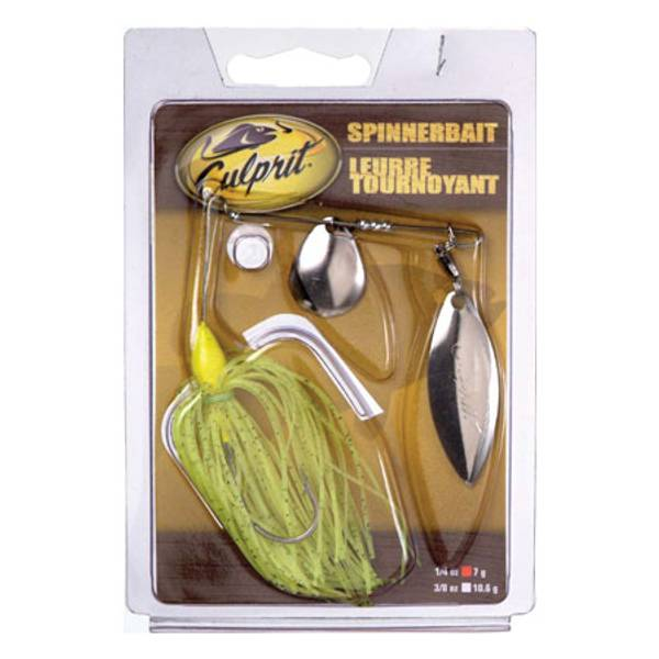 Culprit Chartreuse Spinnerbait Fishing Lure