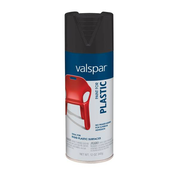 valspar bond black plastic spray paint