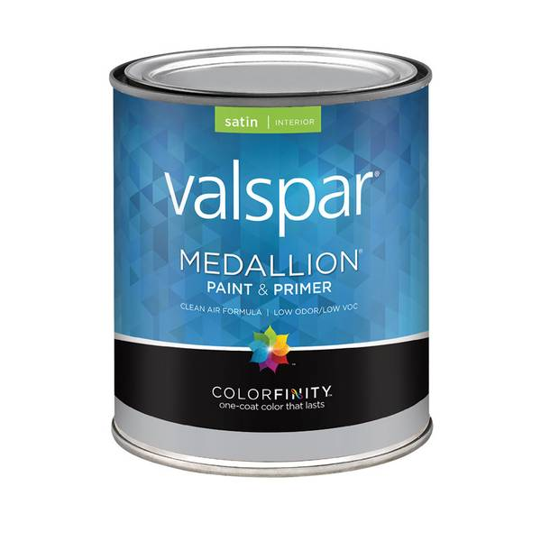 Valspar 1 Quart Medallion Interior Latex Satin Paint