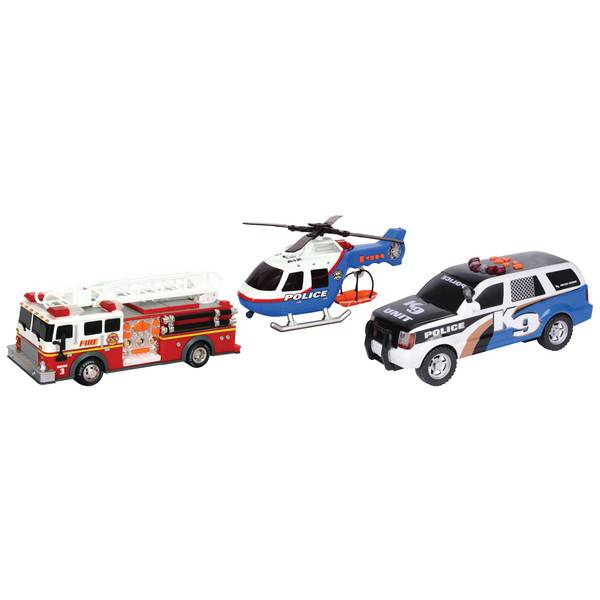 Rush and Rescue Police Car Toy Assortment