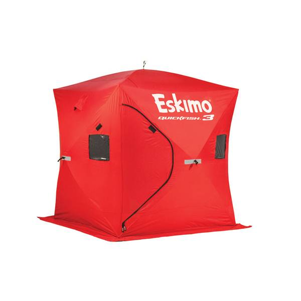 Eskimo quickfish 3 portable ice shelter at blain 39 s farm for Fleet farm ice fishing