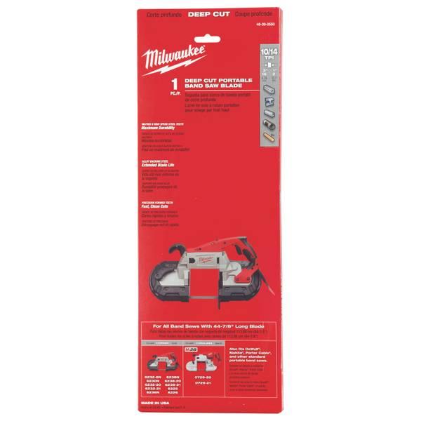 10/14 TPI Standard Deep Cut Portable Band Saw Blade