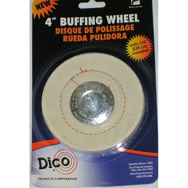 Cushion Sewn Mandrel Mounted Buffing Wheel