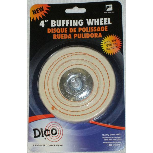 Spiral Sewn Mandrel Mounted Buffing Wheel