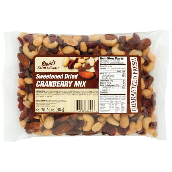 Sweetened Dried Cranberry Mix
