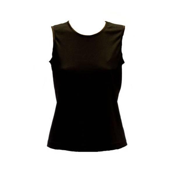 Women's Sleeveless Microfine Rib Knit Shell
