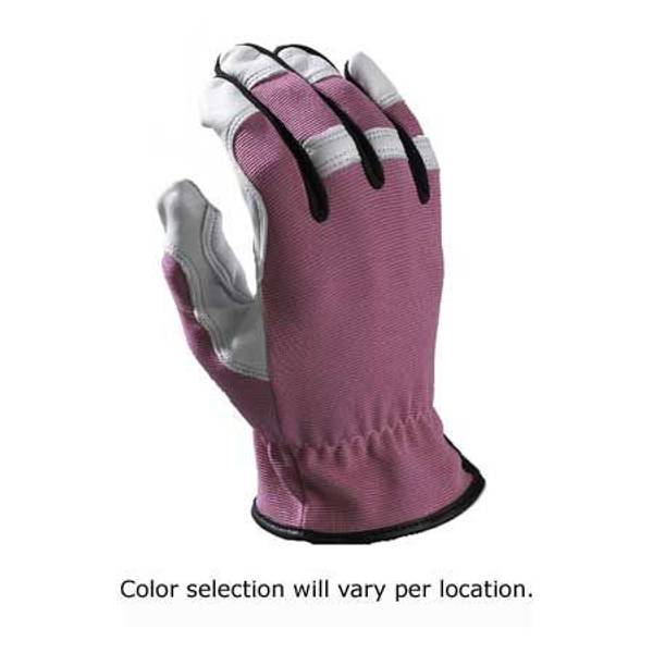 Women's Style Brites Leather & Fabric Gloves