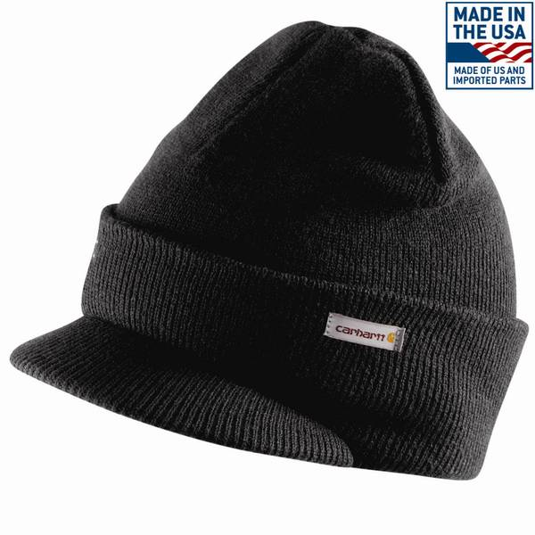 Carhartt Men s Knit Hat with Visor ea5c0f5ee90