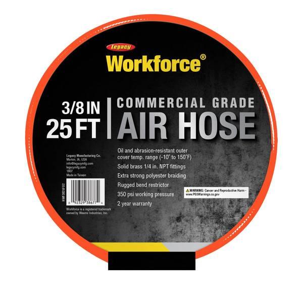 Workforce Commercial Grade PVC Air Hose