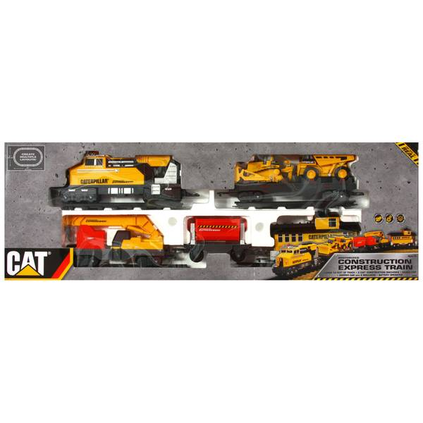Cat Construction Toys : Toy state cat construction express train set