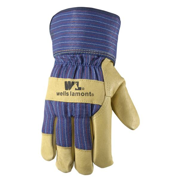 Men's Cold Weather Lined Leather Palm Suede Pigskin Gloves