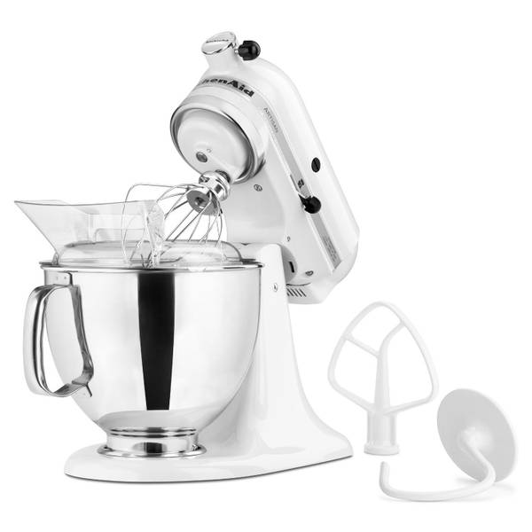 KitchenAid Artisan Stand Mixer on fall ice, champagne ice, whirlpool refrigerator ice, coffee ice,
