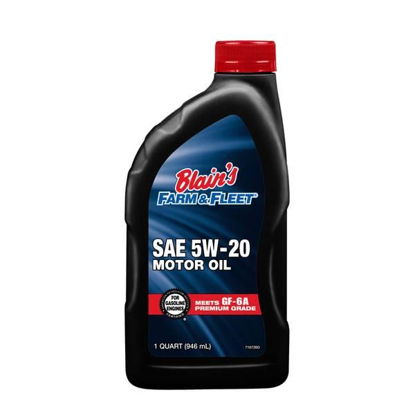 Premium 5W20 Grade Motor Oil