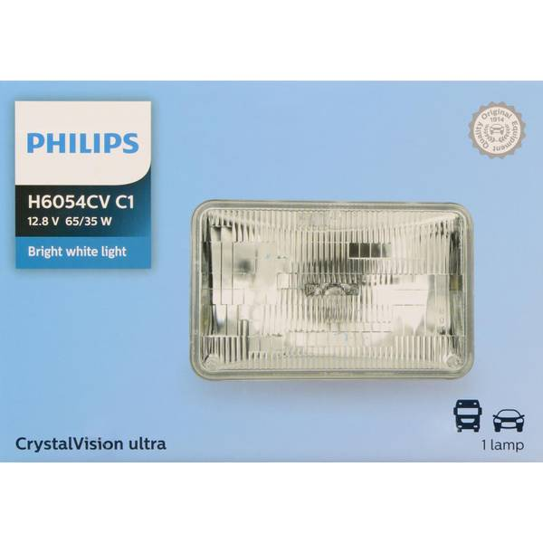 H6054 CrystalVision ultra Halogen Rectangular Low/High Beam Headlights