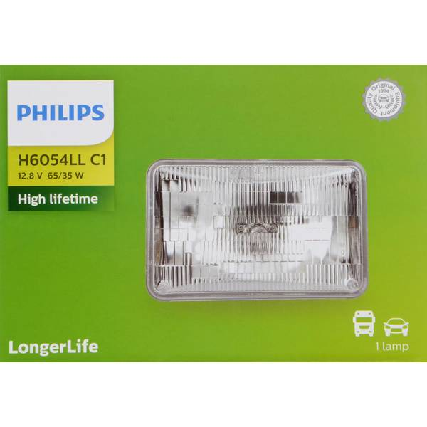 H6054 LongerLife Halogen Rectangular Low/High Beam Headlights