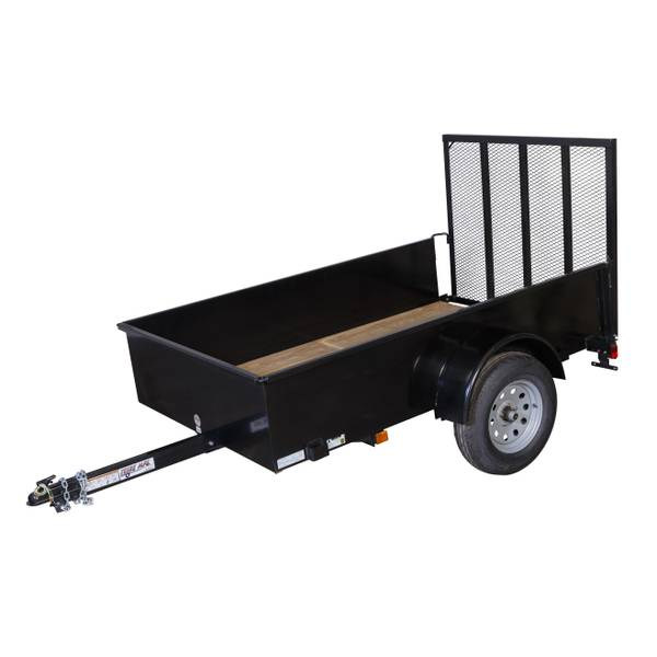 Utility Trailers: Teske Mfg. 5' X 8' High Side Utility Trailer