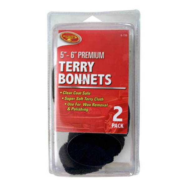 Terry Polishing Bonnet 2 Pack