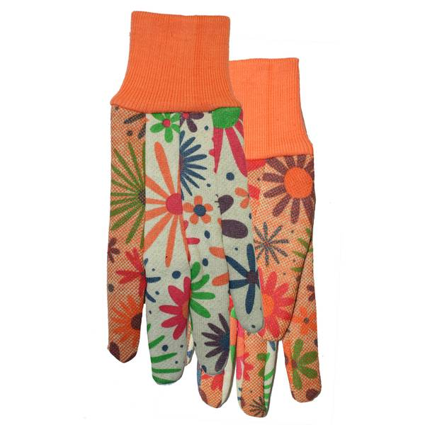 Women's Polka Dot Garden Gloves with Palm Grips