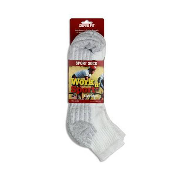 Men's 3-Pack Quarter Cotton Sock