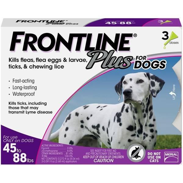 Frontline Plus Flea And Tick Control Medicine For Dogs, 45