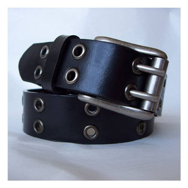 Boy's Black Double Grommet Belt