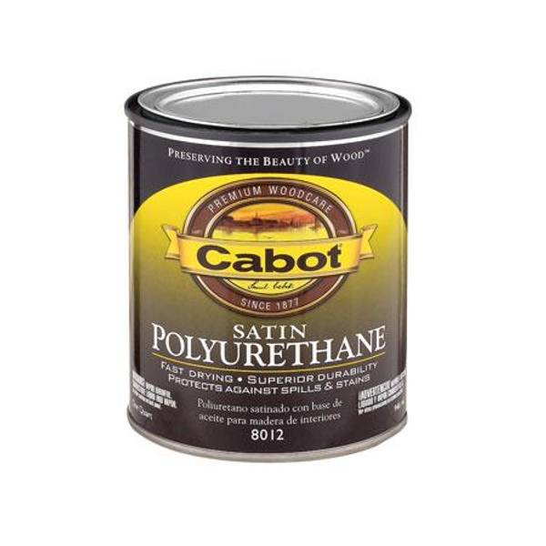 Cabot interior oil based satin finish polyurethane for Exterior polyurethane wood finish