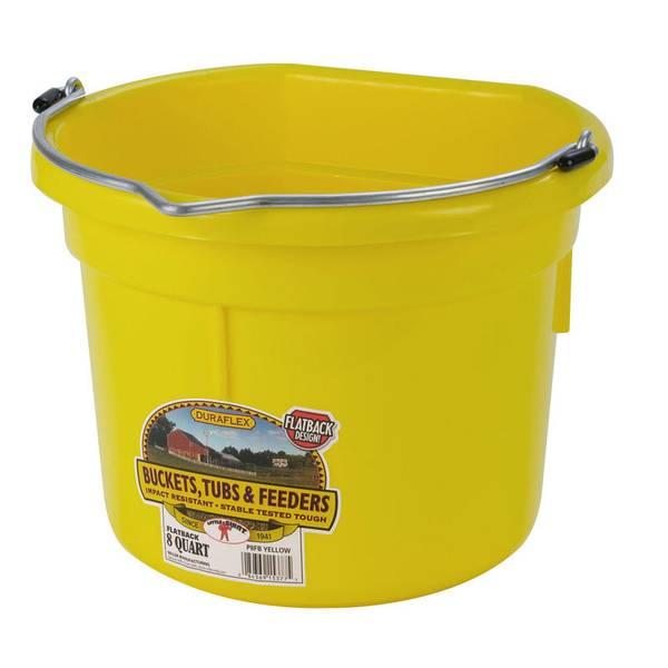 Duraflex Flat Back Plastic Bucket