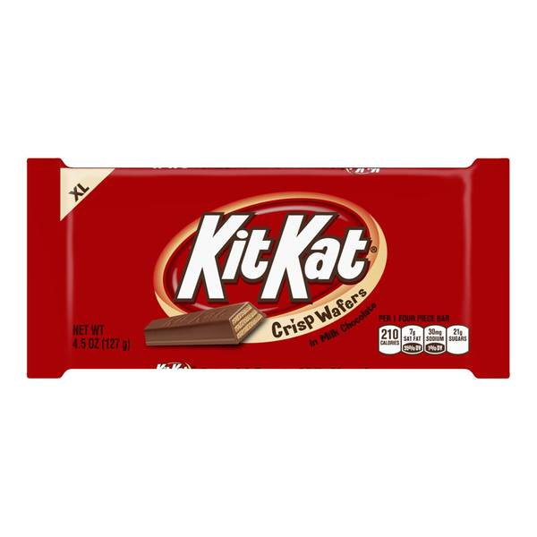 Kit Kat Crisp Wafers in Milk Chocolate Candy Bar - XL 4.25 oz. (Pack of 6)