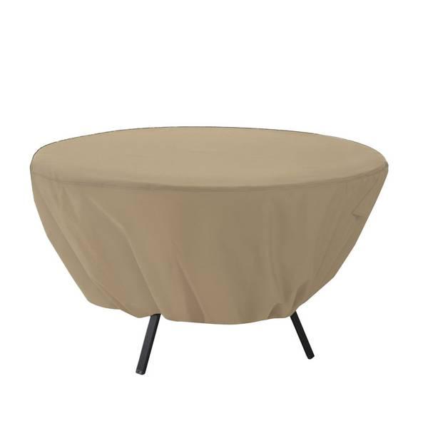 Terrazzo Round Patio Table Cover, Sand