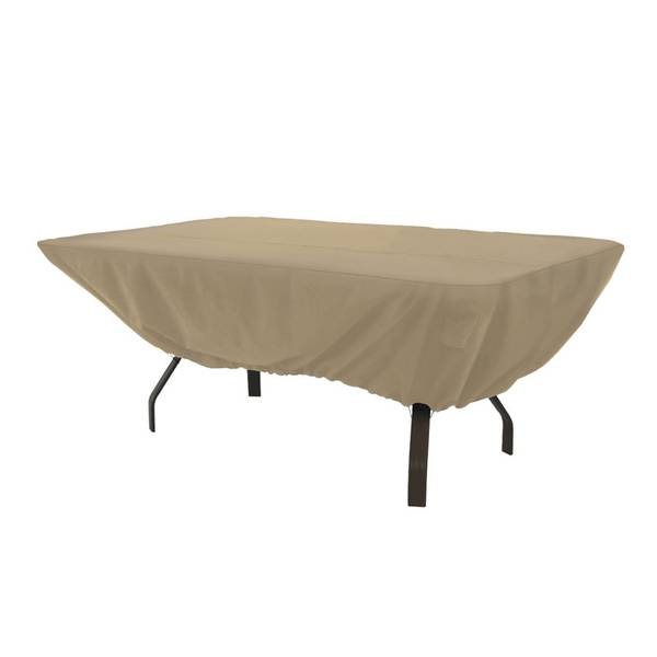 Terrazzo Rectangular/Oval Patio Table Cover, Sand
