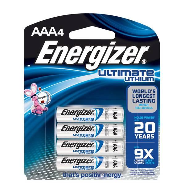 "Lithium ""AAA"" Batteries 4 Pack"