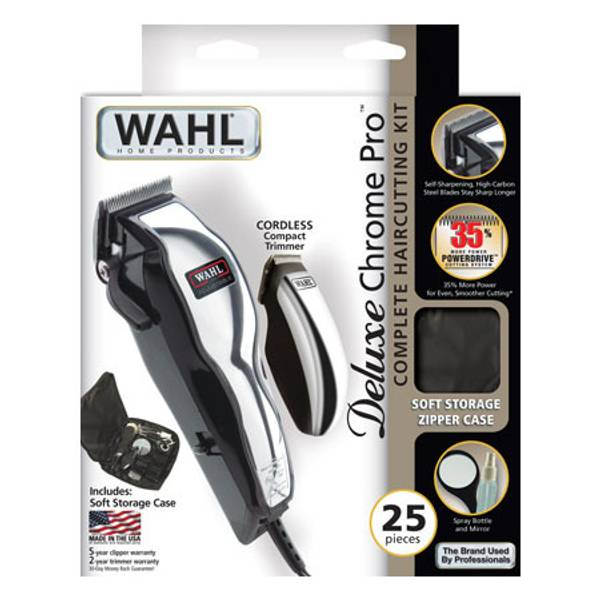 wahl chrome pro complete haircutting kit wahl deluxe chrome pro complete hair cutting kit 5119