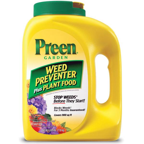 Garden Weed Preventer Plus Plant Food