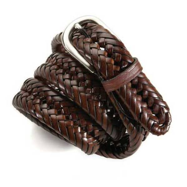 Men's Chestnut Braided Belt