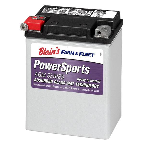 14AHBS AGM Powersport Battery