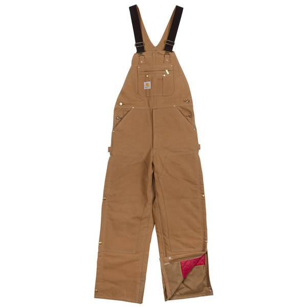 51ccb5170 Men's Quilt Lined Zip to Thigh Duck Bib Overalls