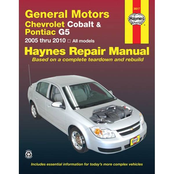 GM: Chevrolet Cobalt (05-10), Pontiac G5 (07-09) & Pontiac Pursuit (05-06) Manual