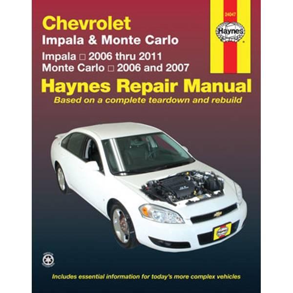 Chevrolet Impala (06-11) & Monte Carlo (06-07) Manual