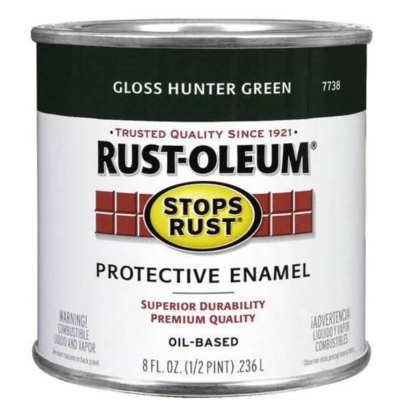 Rust oleum 1 2 pint protective gloss enamel oil based paint for Oil based fence paint